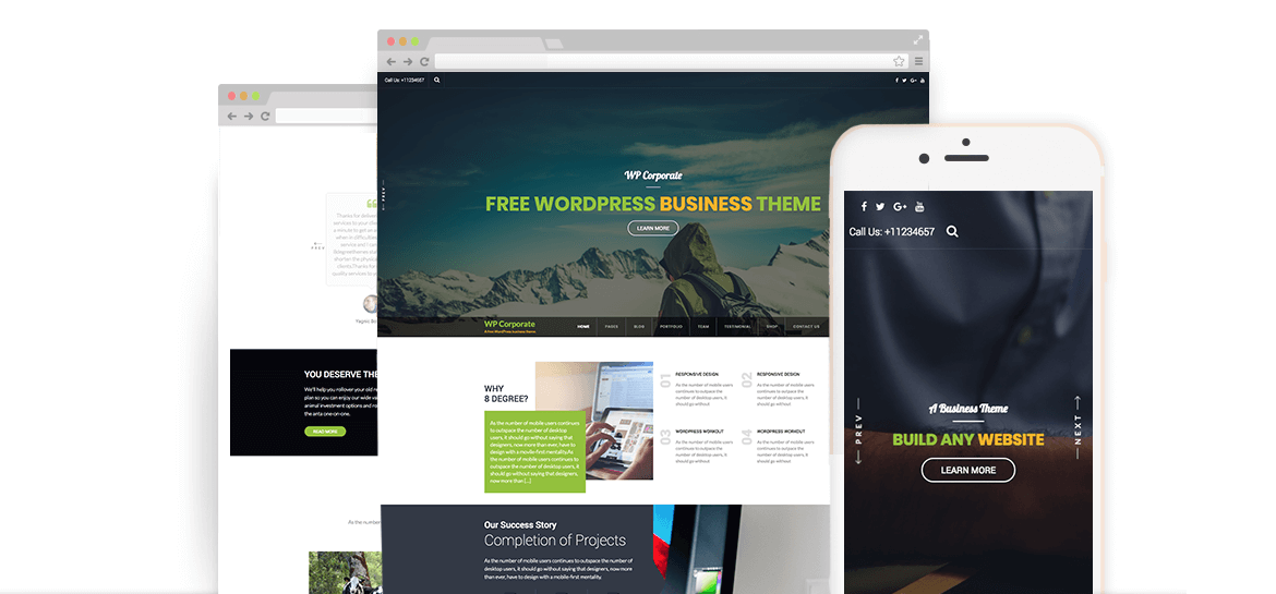 WP Corporate – Best Free WordPress Business Theme