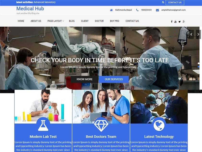 medical-hub-free-medical-wordpress-theme