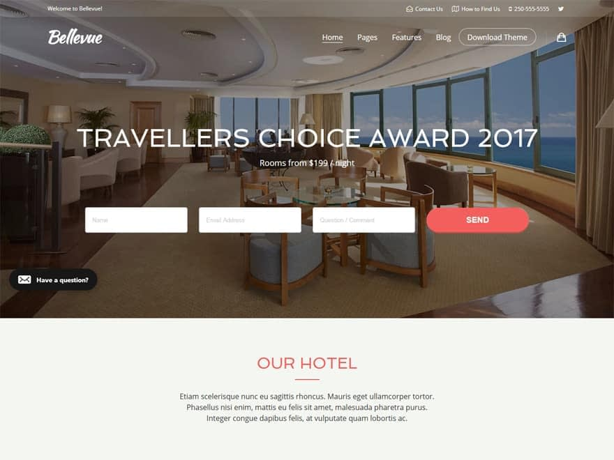 Bellevue - WordPress Hotel and Resort Themes