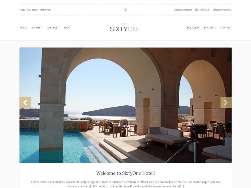 sixtyone - WordPress Hotel and Resort Themes