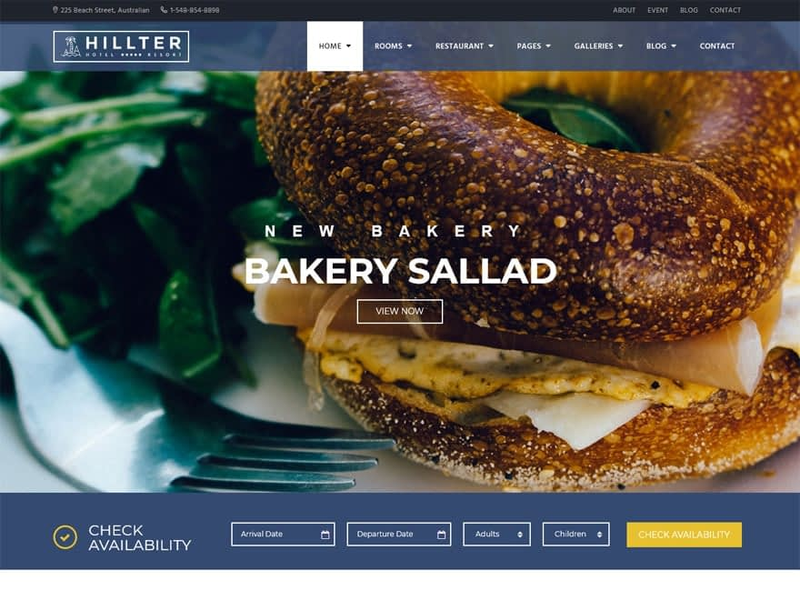 Hillter - WordPress Hotel and Resort Themes