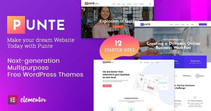 Free Multipurpose WordPress Theme - Punte