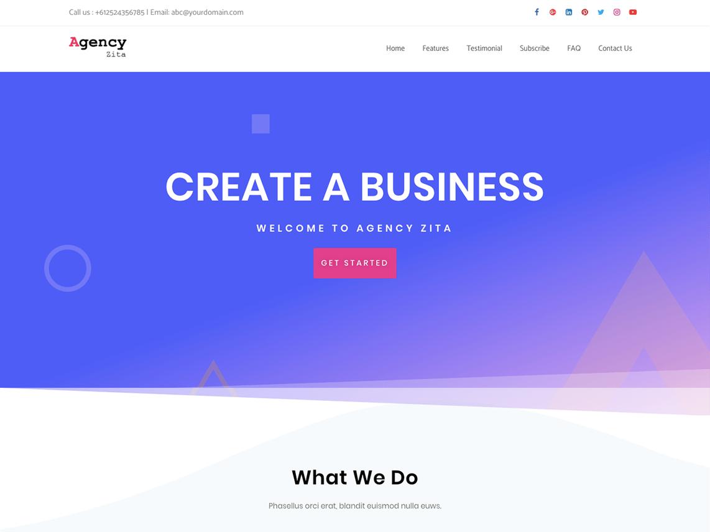 Agency Zita- Free WordPress theme
