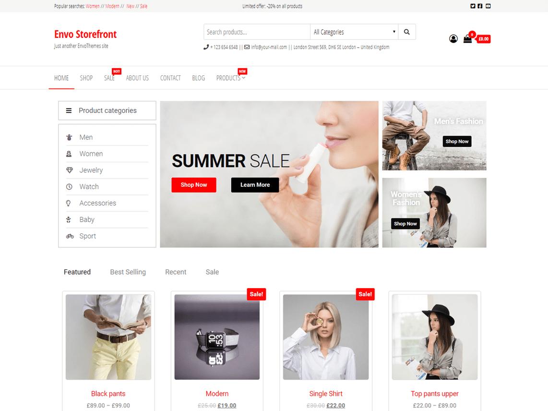 Envo Storefront Free WordPress Theme