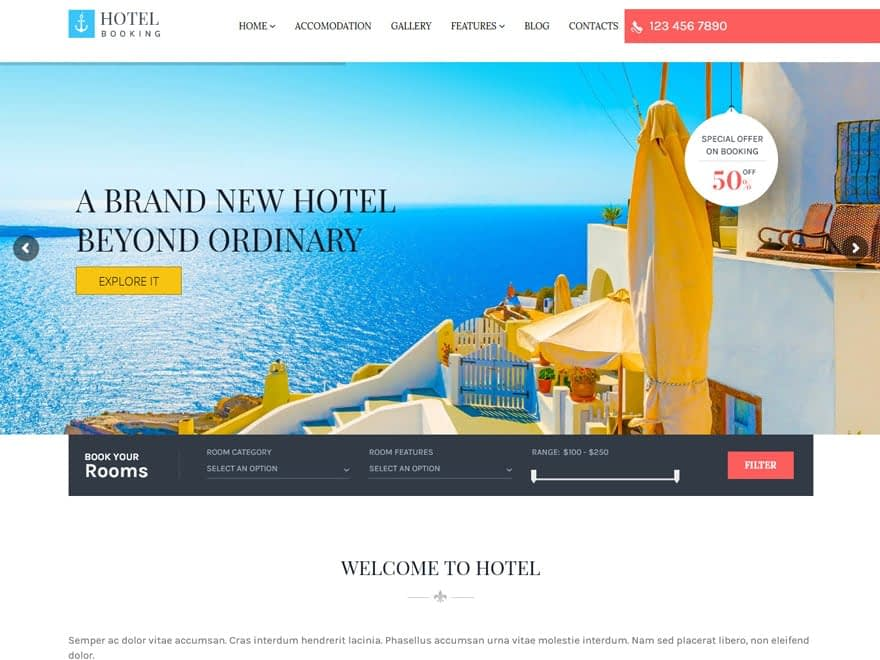 Hotel Booking - WordPress Hotel and Resort Themes