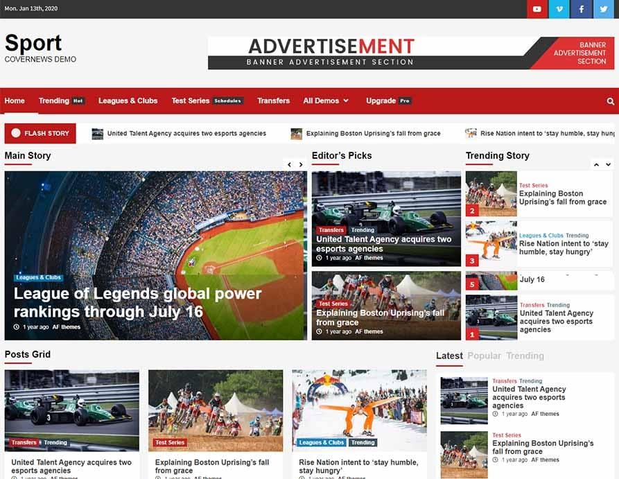 Sport-CoverNews-magazine-theme