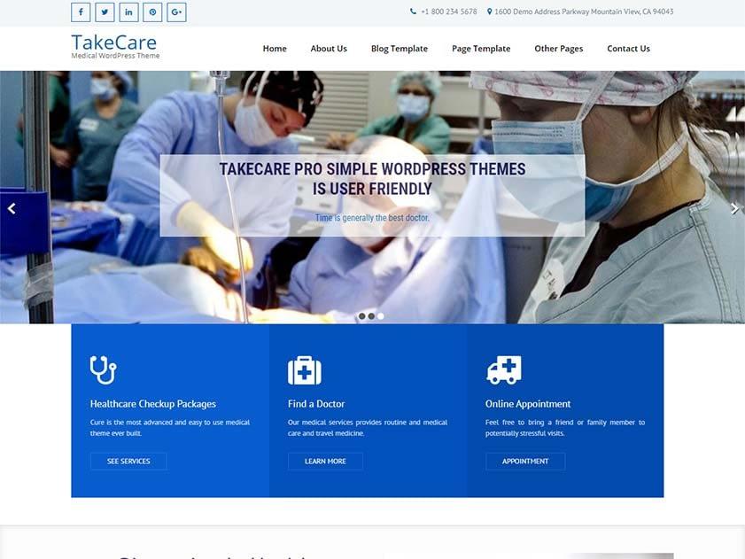 takecare-free-medical-wordpress-theme
