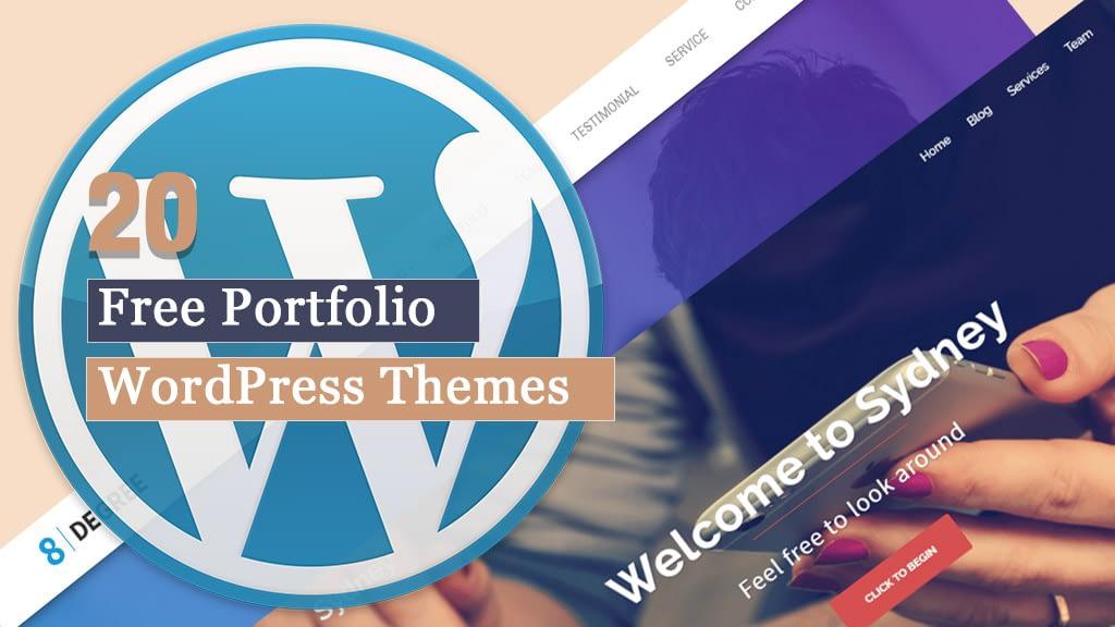 20 Free Portfolio WordPress Themes for 2020