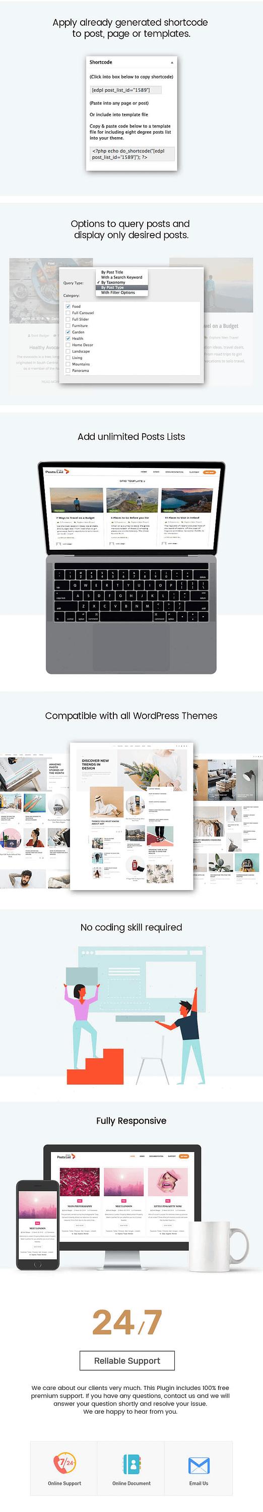 Eight Degree Posts List – Blog Post Designer Premium WordPress Plugin