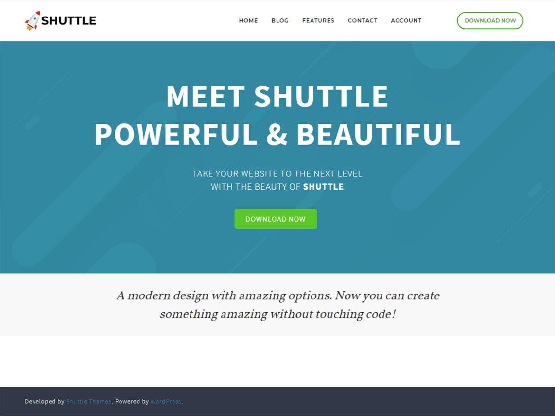 Shuttle Free WordPress Theme