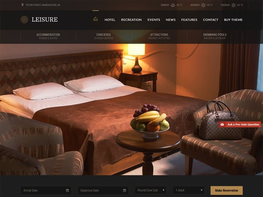 Leisure - WordPress Hotel and Resort Themes