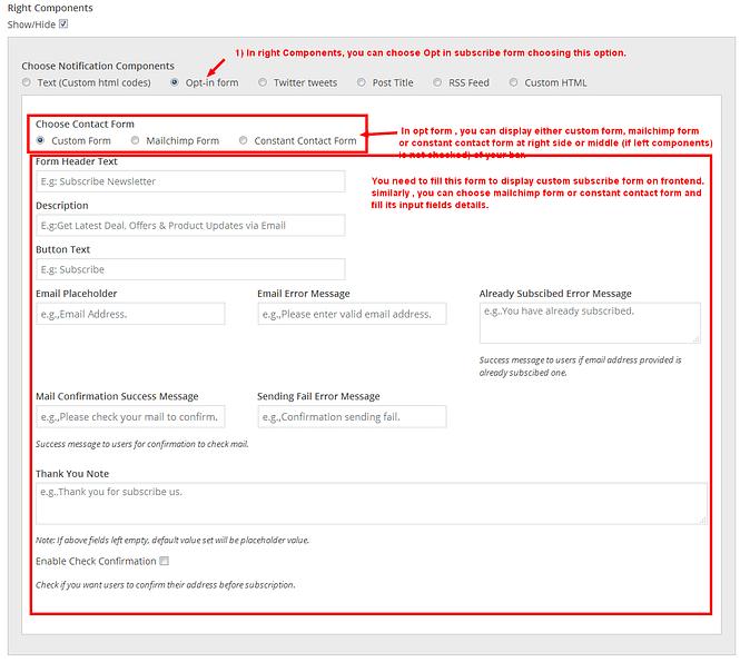 8degree notification bar pro bar right components