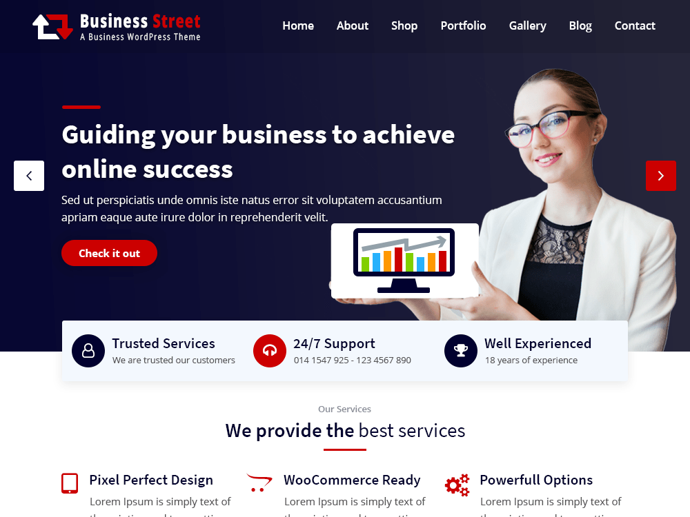 Business Street-Free WordPress Theme