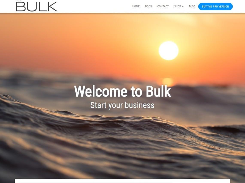 Bulk Free WordPress Theme