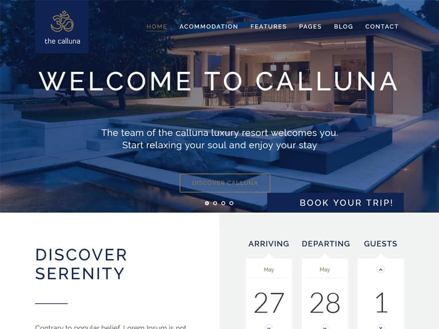 Hotel Calluna - WordPress Hotel and Resort Themes