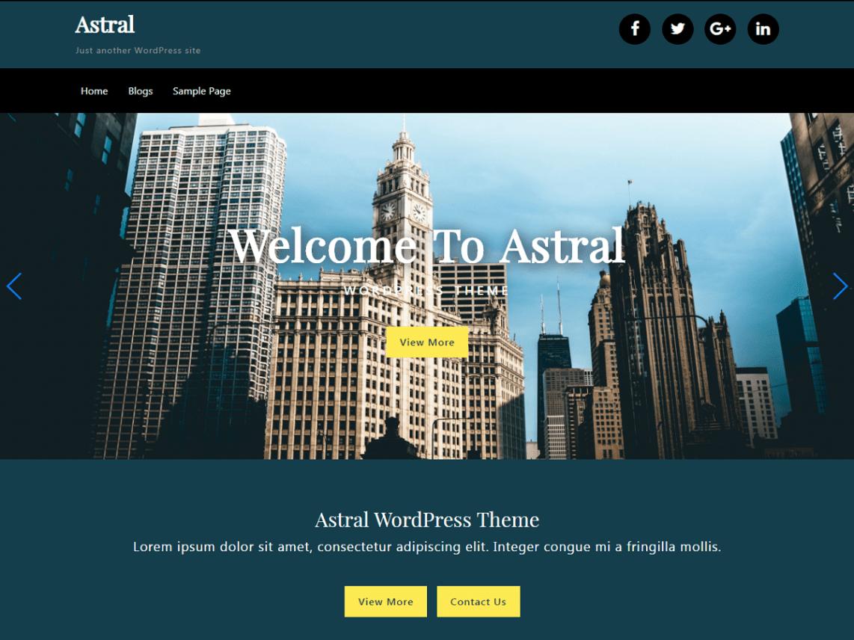 Astral Free WordPress Theme