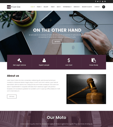 EightLaw Lite - Free Lawyer WordPress Theme For Law Firm