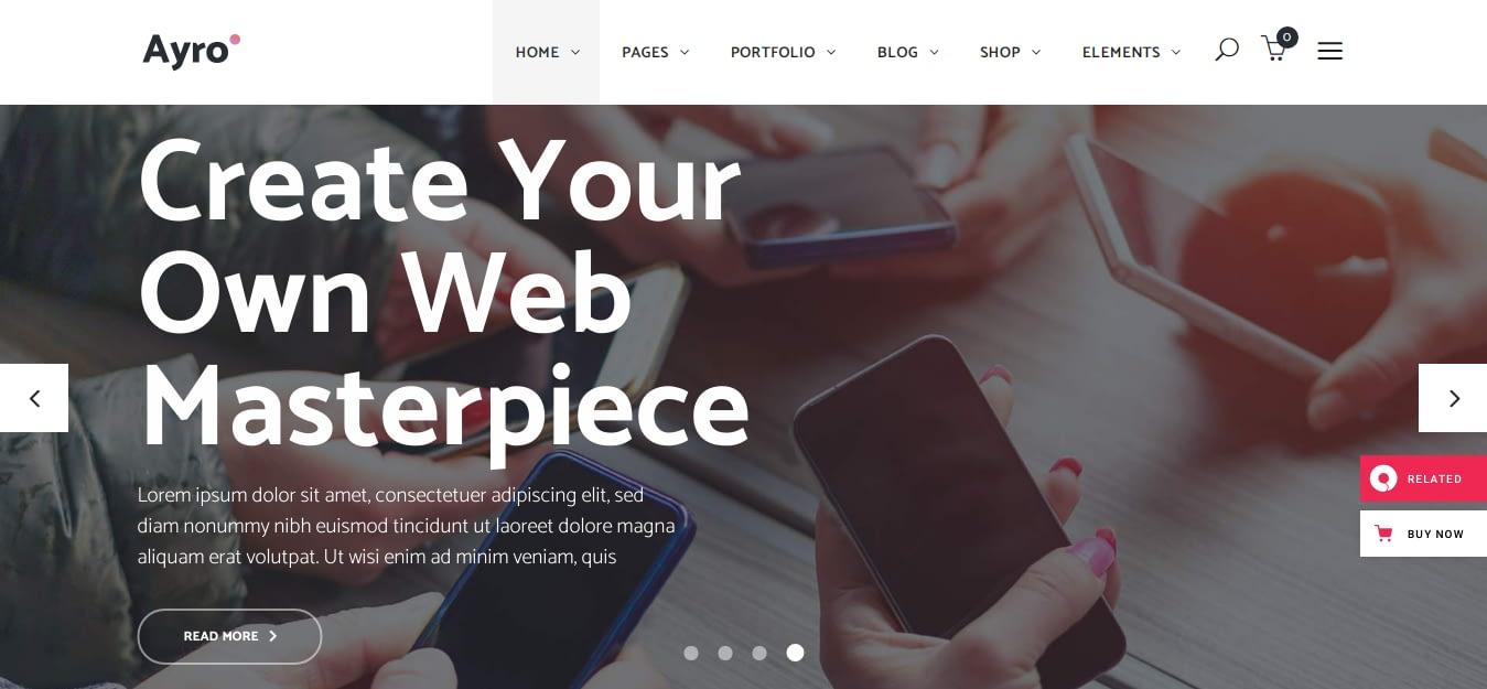 Ayro – Best WordPress Startup Theme