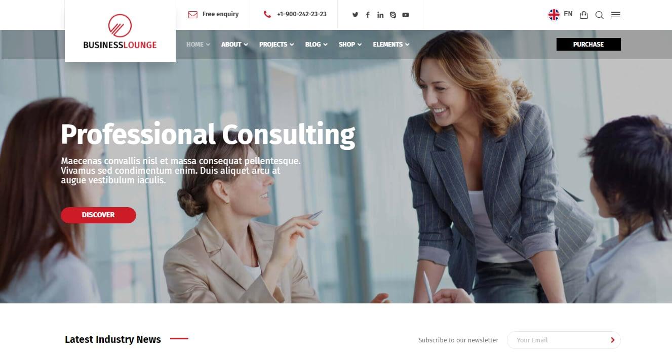 Business Lounge - Best Financial Company WordPress Theme