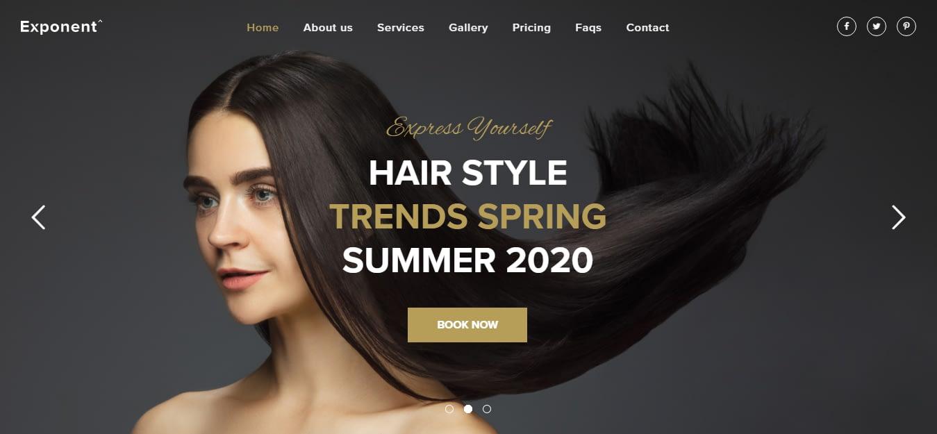 Exponent - Best Hairdresser WordPress Theme