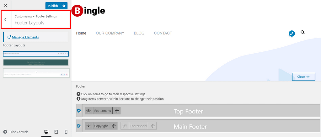 Customize-Bingle-footer