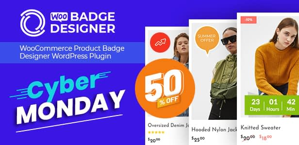 Woo Badge Designer Envato Cyber Monday Sale