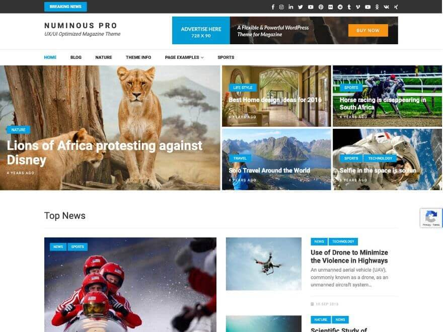 Numinous Pro Premium News Magazine