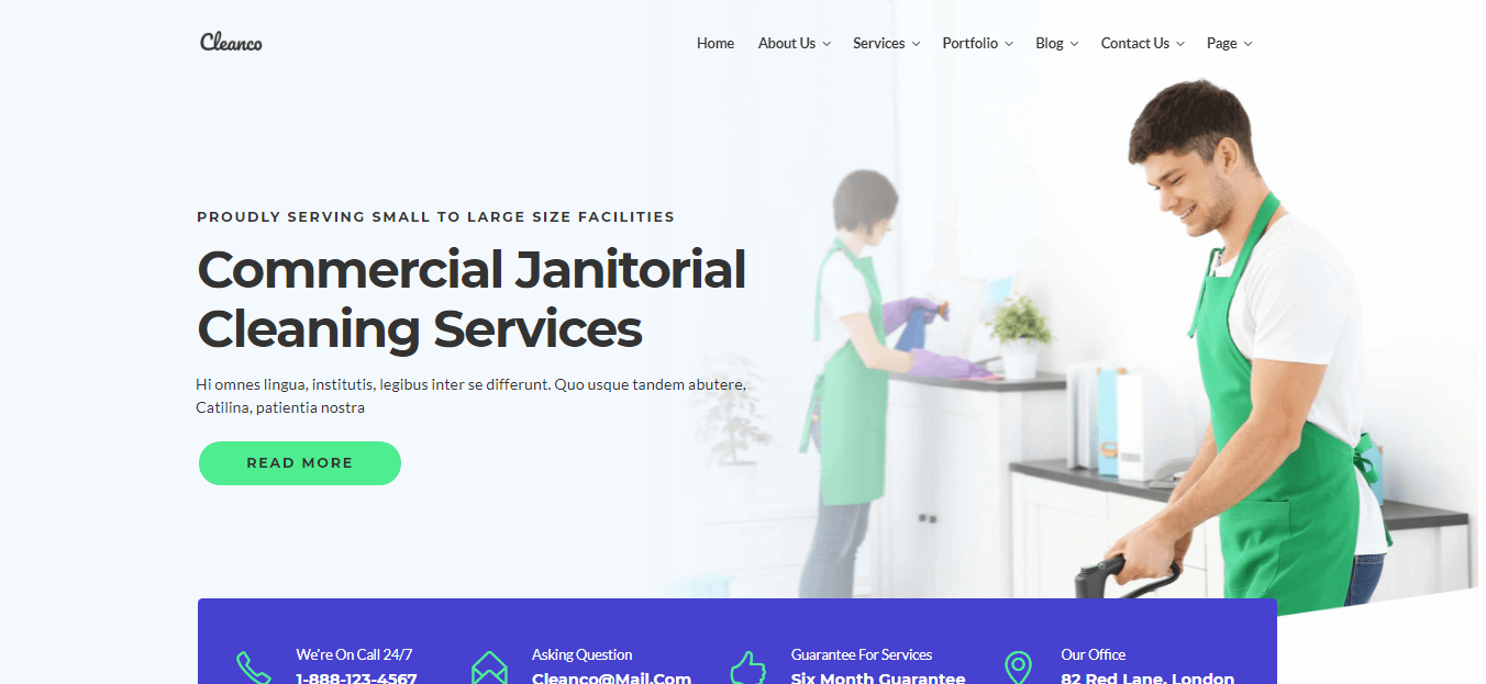 Cleanco- Best WordPress Cleaning Service Theme