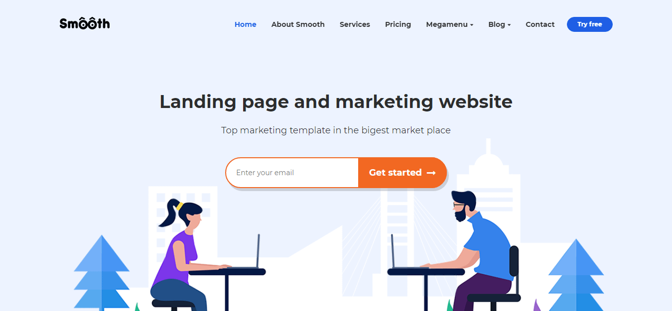 Smooth - Best Software Company WordPress Theme