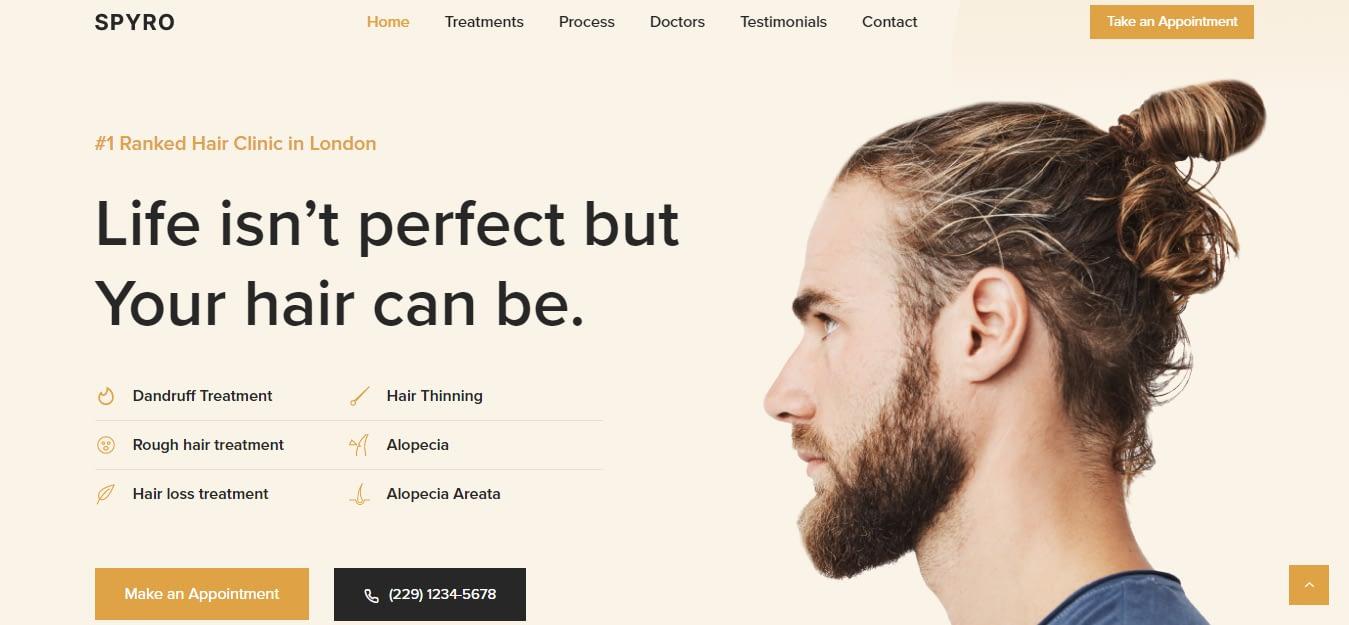Spyro - Best Hairdresser WordPress Theme