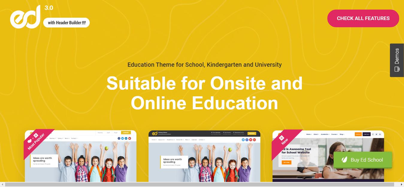 Ed School - Education WordPress Theme