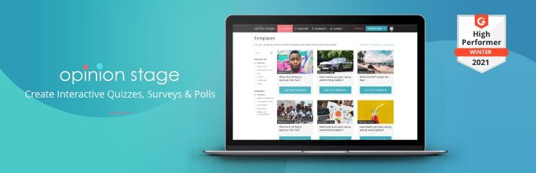 Best WordPress Survey Plugin - OpinionStage