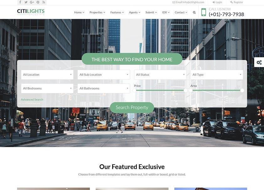 citilights-real-estate-wordpress-theme