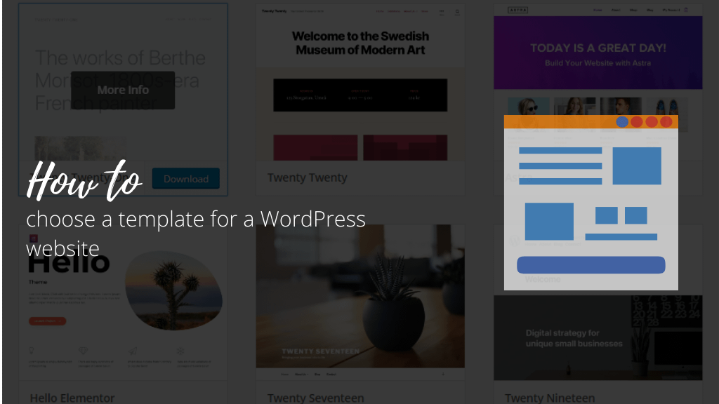 How to choose a template for a WordPress website
