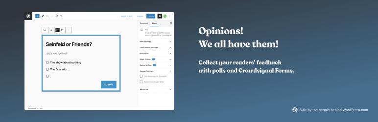 Best WordPress Survey Plugin - CrowdSignal