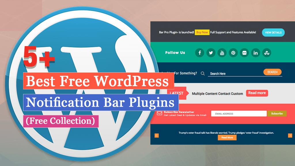 Free WordPress Notification Bar Plugins
