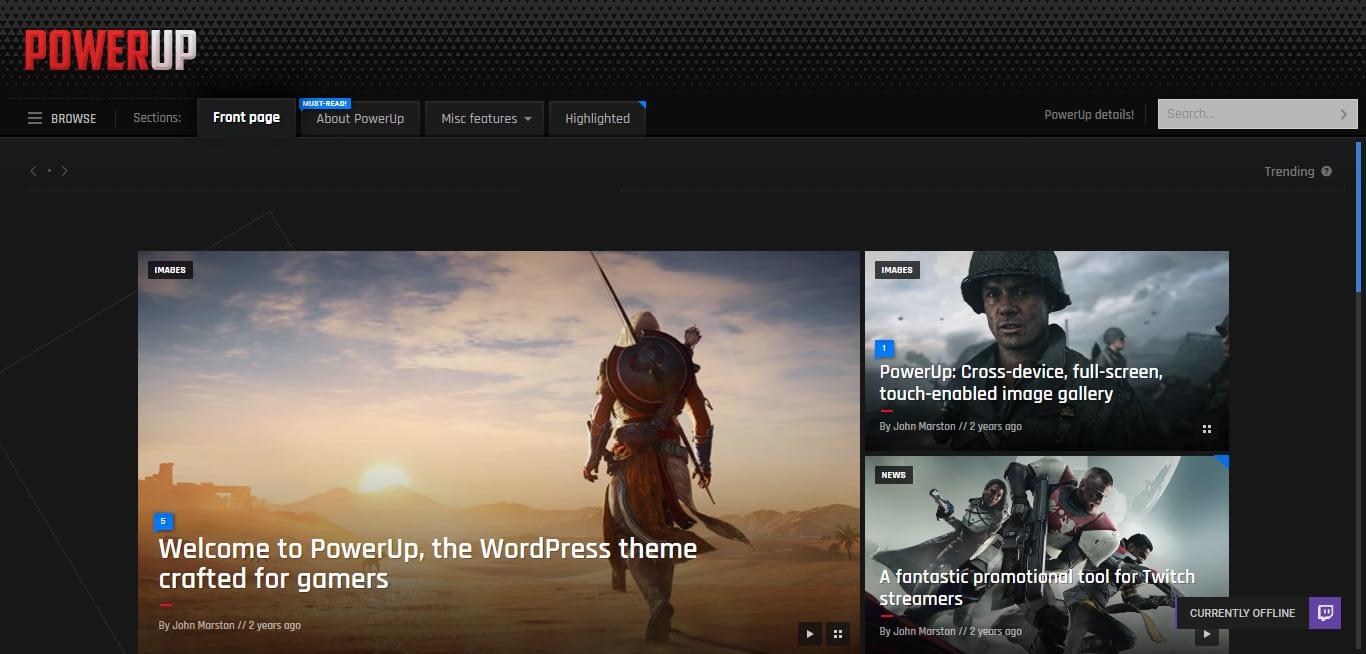 powerup-best-premium-gaming-wordpress-theme