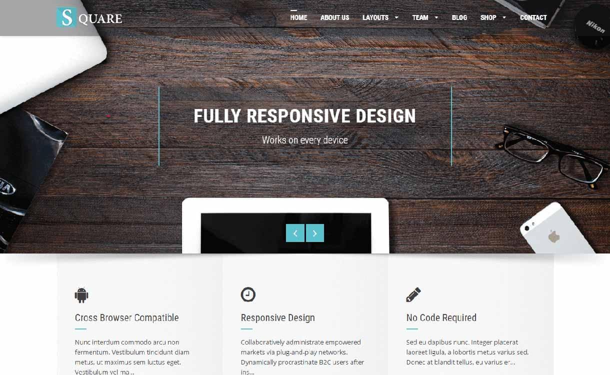 square-best-free-responsive-wordpress-theme