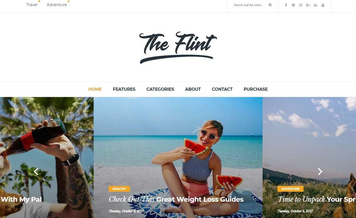 flint-best-premium-wordpress-blog-themes