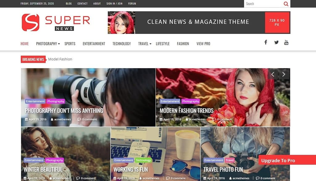 supernews free magazine wordpress theme