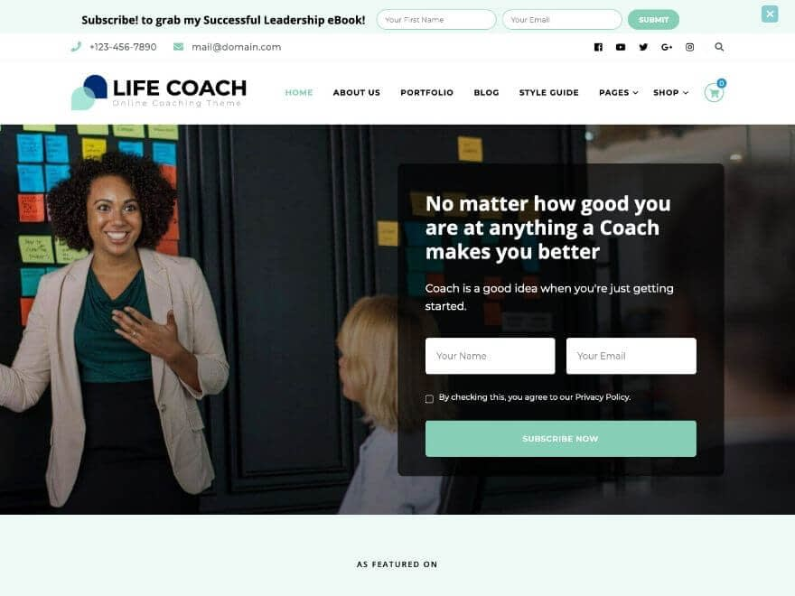 Life Coach Free WordPress Theme