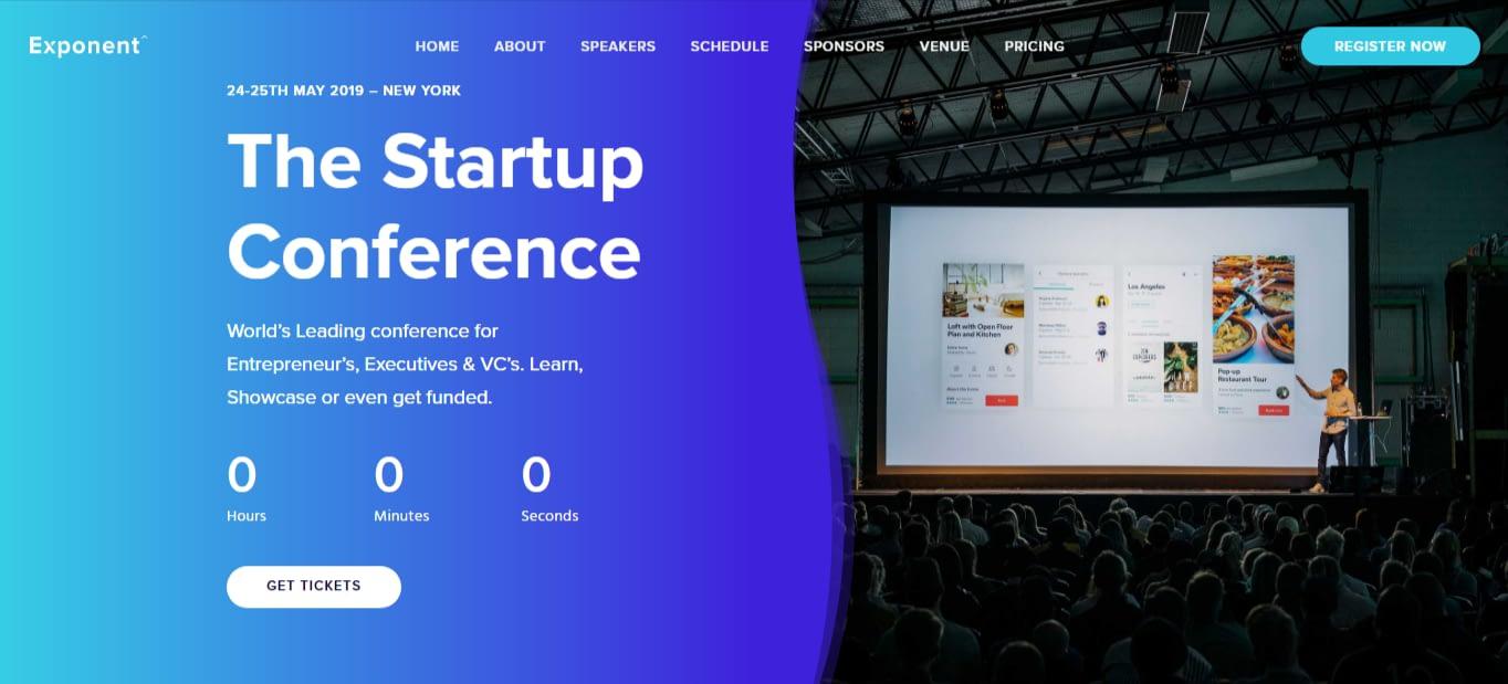 Exponent - Best Event WordPress Theme