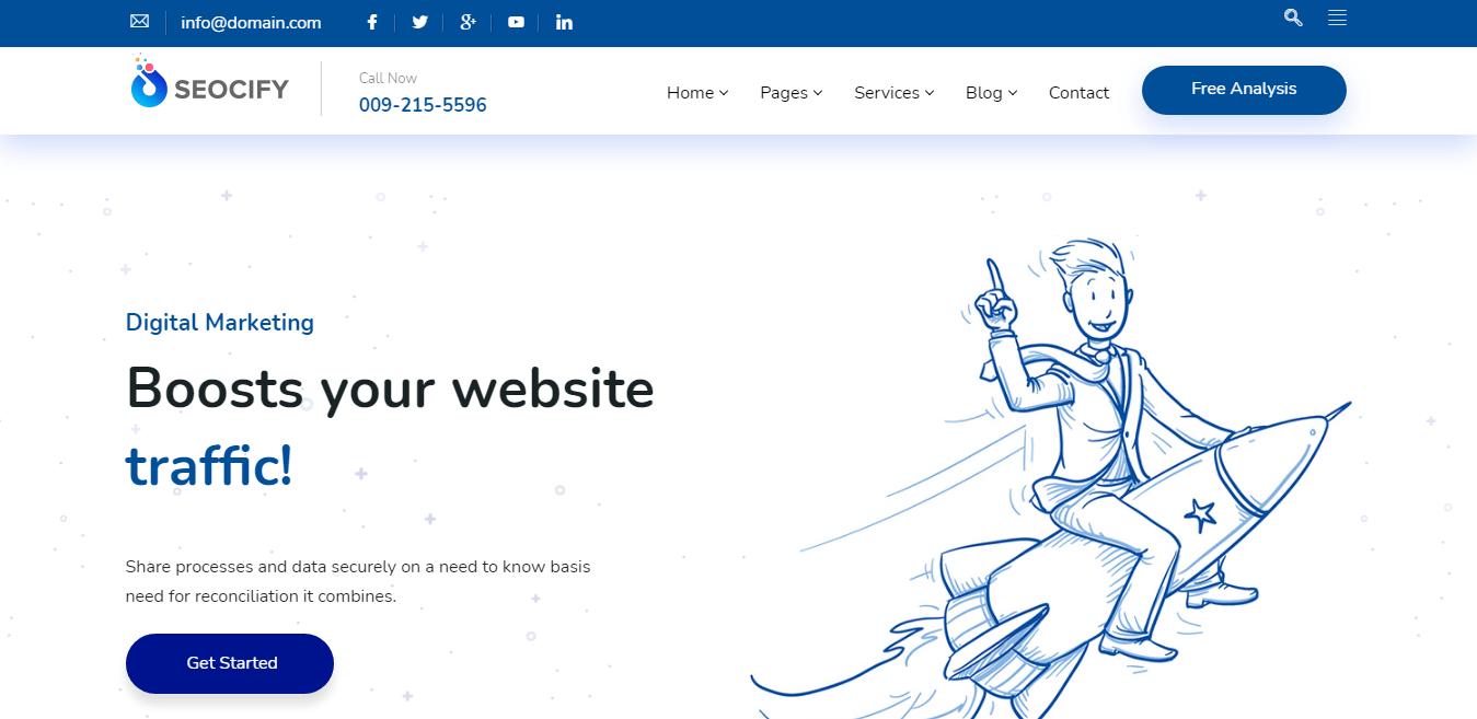 Seocify - Best Marketing Agency WordPress Theme