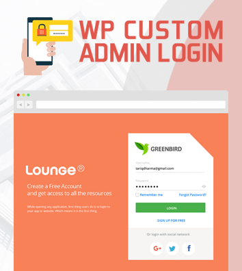 WP Custom Admin Login - WordPress plugin to make a customized Admin Login Page