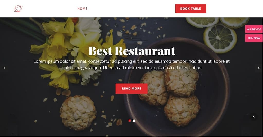 cosmoswp restaurant free wordpress theme