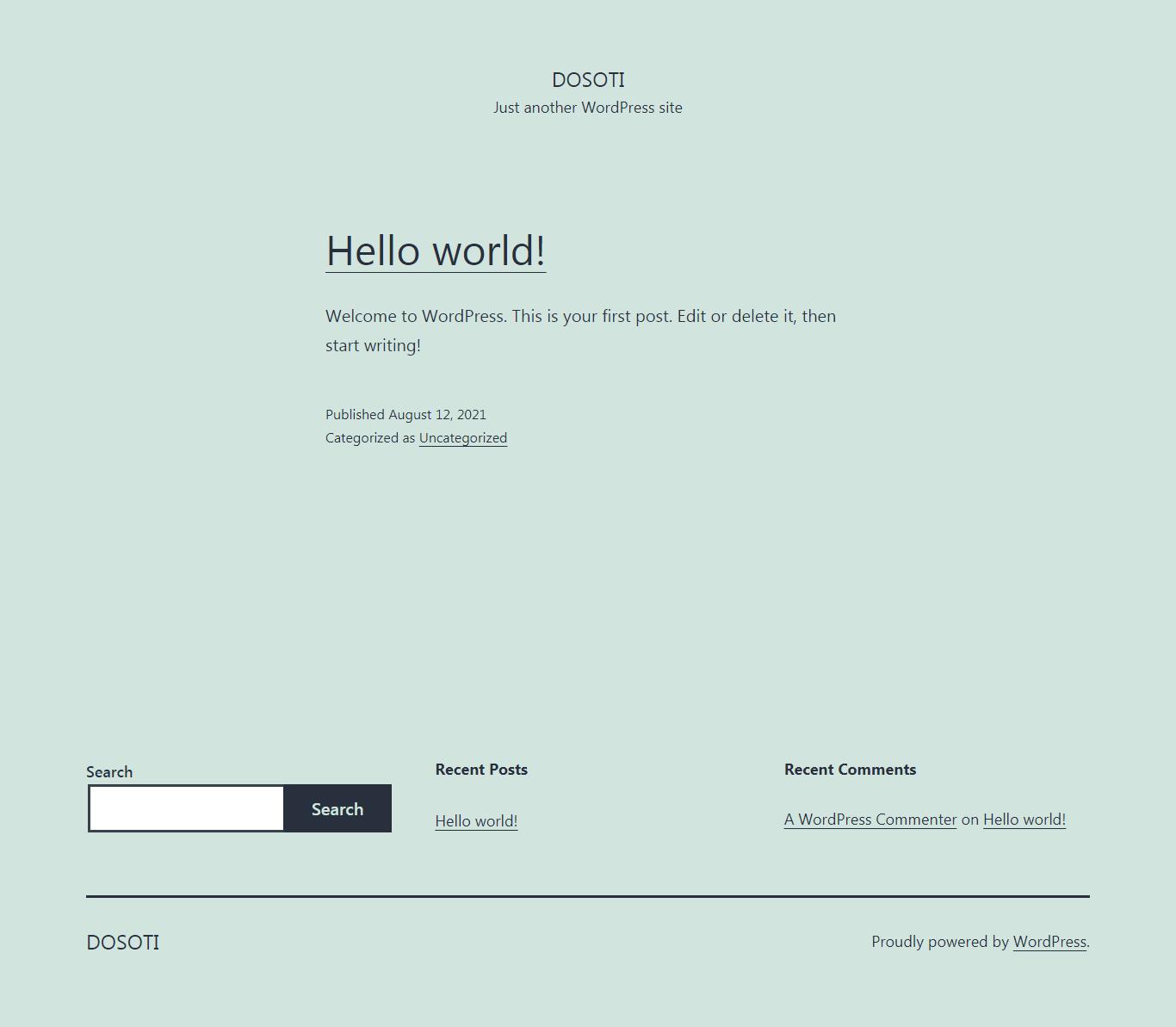 Default WordPress Testing Site