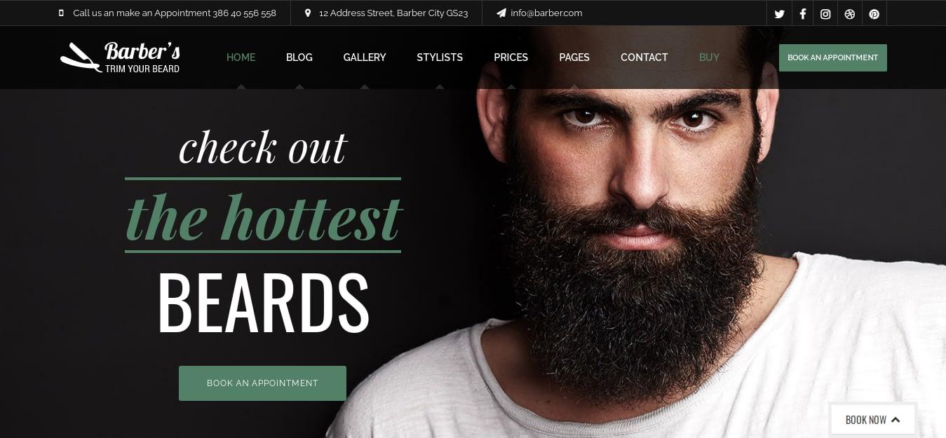 Barber - Best Hairdresser WordPress Theme