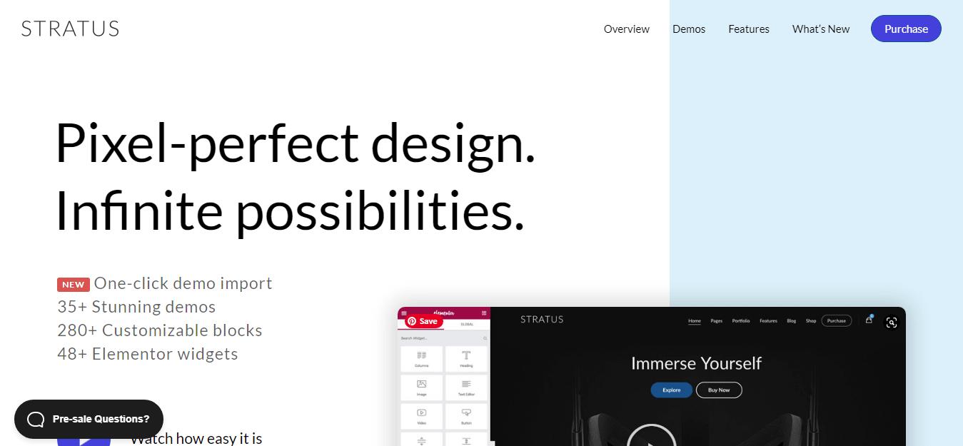 Stratus - Best Software Company WordPress Theme
