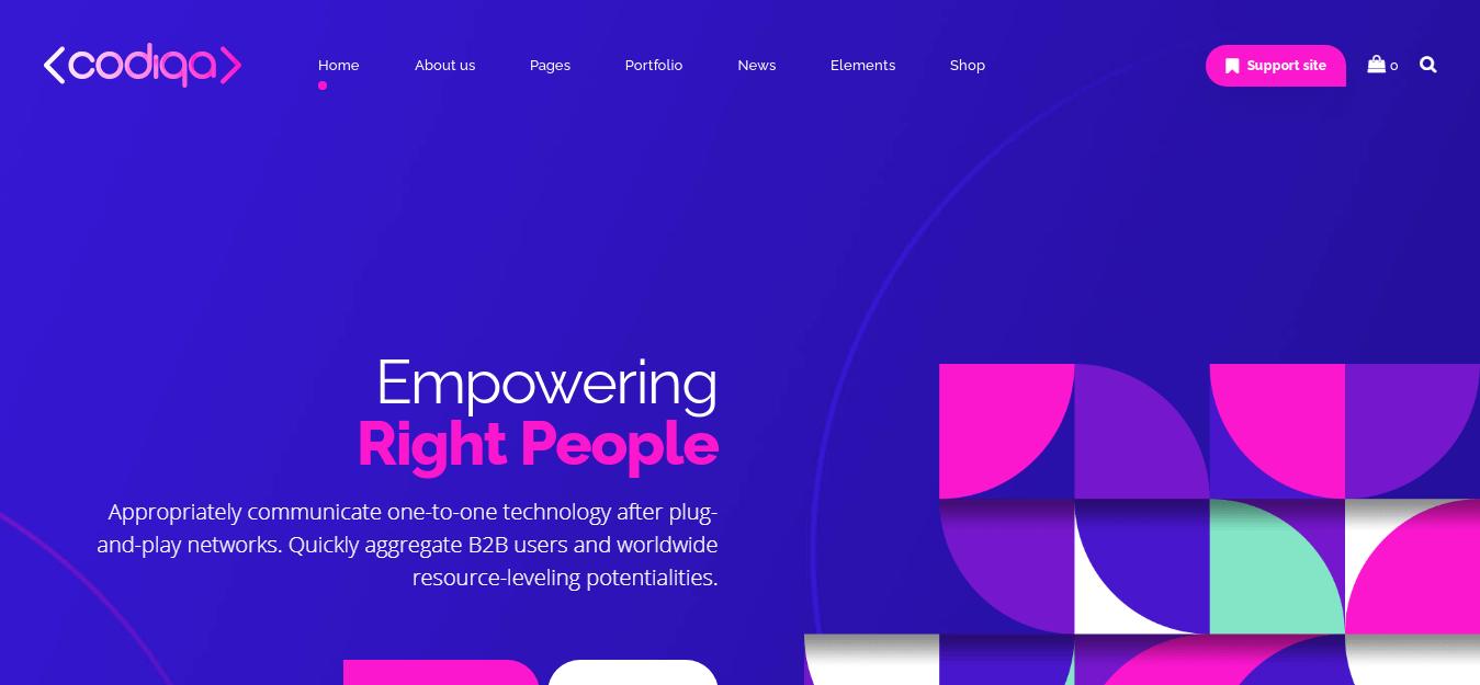 Codiqa - Best Software Company WordPress Theme