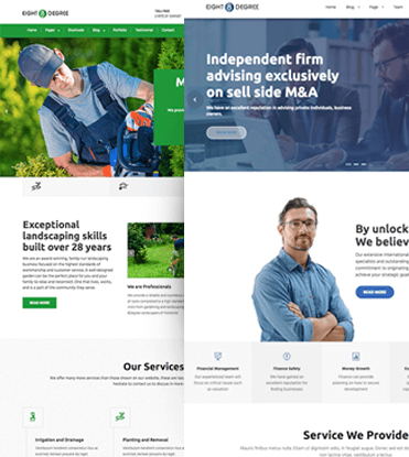 Eight Degree Pro - WordPress Corporate Business Premium Theme